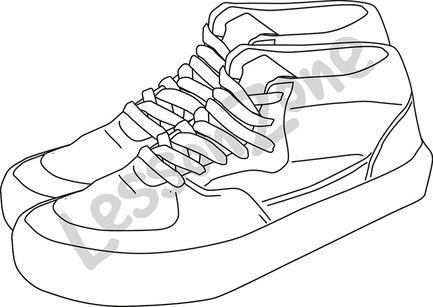 Gym shoes B&W