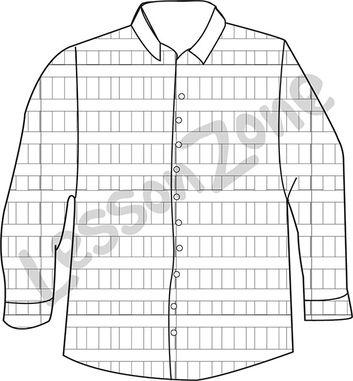 Checked shirt B&W