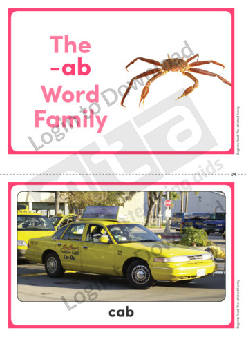 The -ab Word Family