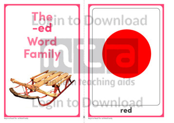 The -ed Word Family