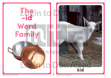 The -id Word Family