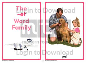 The -et Word Family