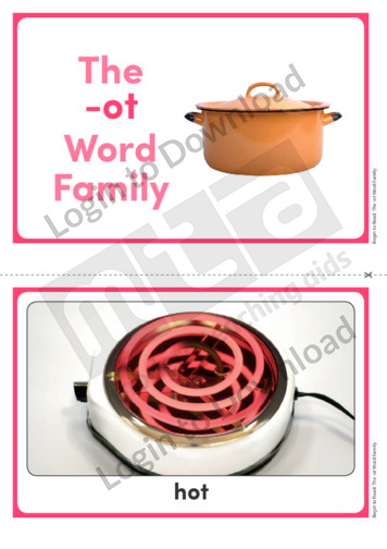 The -ot Word Family