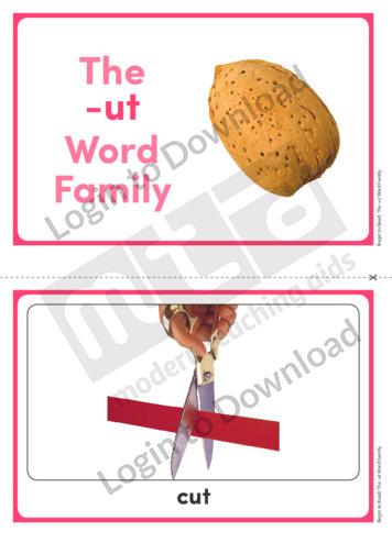 The -ut Word Family