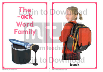 The -ack Word Family