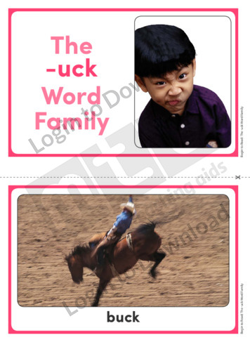 The -uck Word Family