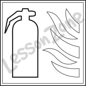 Fire extinguisher B&W