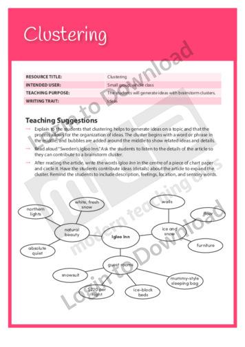 Ideas: Clustering (Level 7)