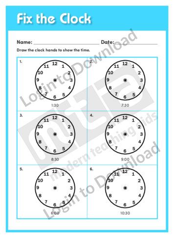 Fix the Clock