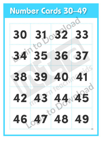 Number Cards 30-49