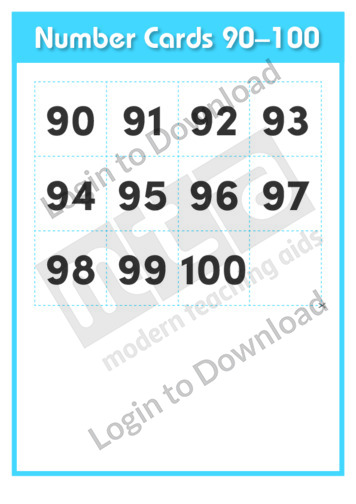 Number Cards 90-100