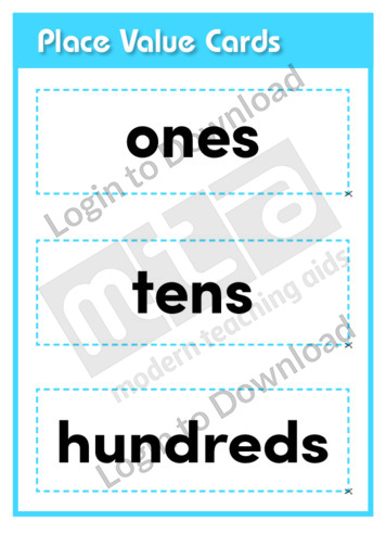 Place Value Cards (Level 3)