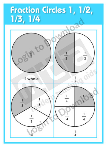 Fraction Circles 1, 1/2, 1/3, 1/4
