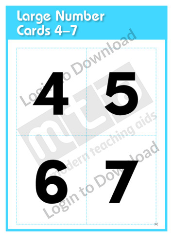 Large Number Cards 4-7