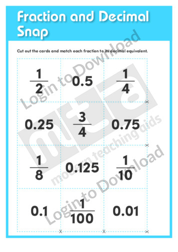 Fraction and Decimal Snap