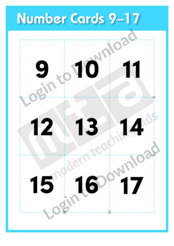 Number Cards 9-17