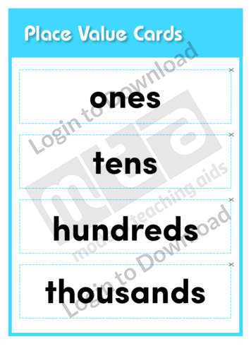 Place Value Cards (Level 6)
