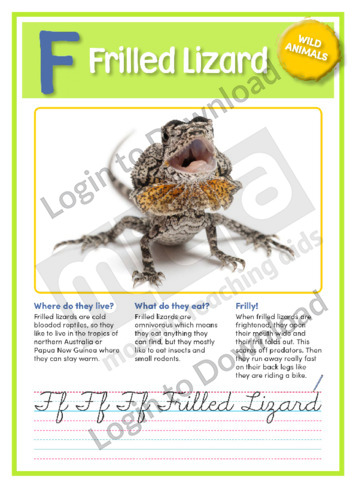 F: Frilled Lizard