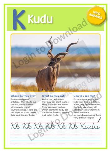 K: Kudu