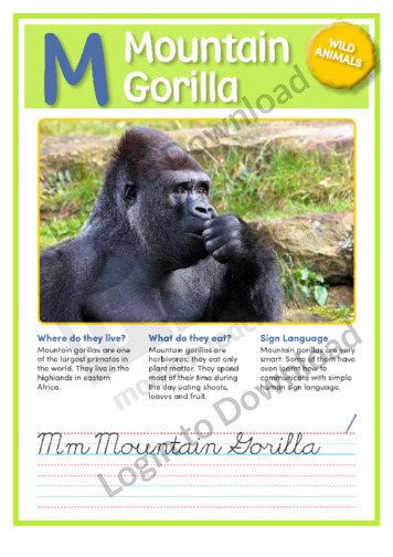 M: Mountain Gorilla
