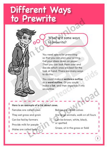Different Ways to Prewrite (Level 3)