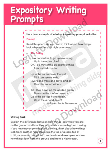 Expository Writing Prompts (Level 3)