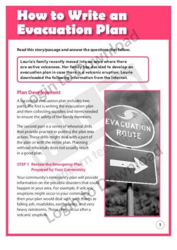 How to Write an Evacuation Plan