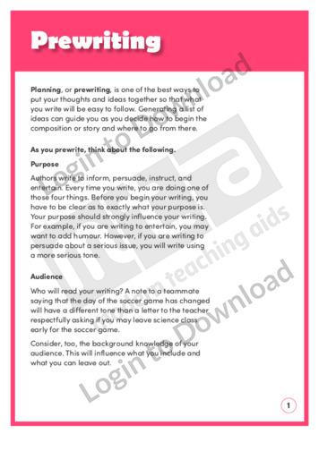 Prewriting (Level 7)