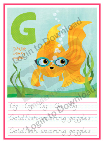 G for Goldfish