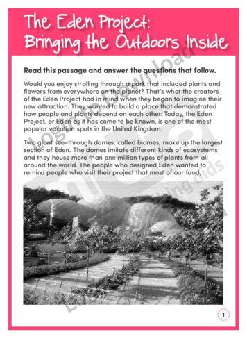 The Eden Project: Bringing the Outdoors Inside