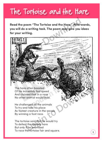 Creative Writing Prompt: The Tortoise and the Hare