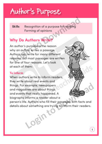 Author's Purpose 1