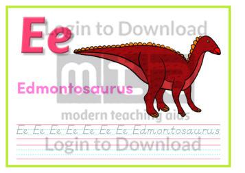 E: Edmontosaurus