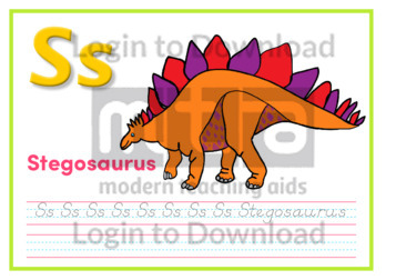 S: Stegosaurus