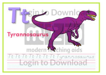 T: Tyrannosaurus