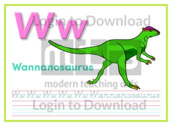 W: Wannanosaurus