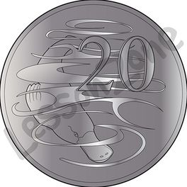 Australia, 20c coin