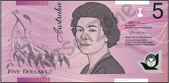 Australia, $5 note