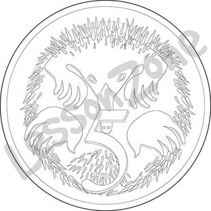 Australia, 5c coin B&W