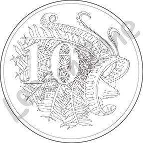 Australia, 10c coin B&W