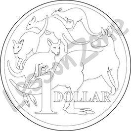 Australia, $1 coin B&W