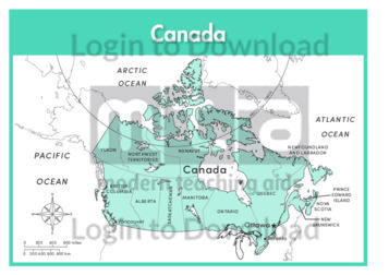Canada (states labelled)