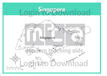 Singapore (labelled outline)