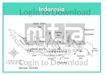 Indonesia (labelled outline)