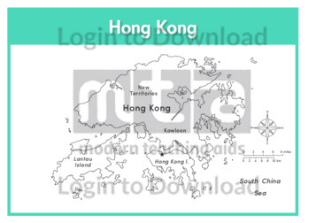 Hong Kong (labelled outline)