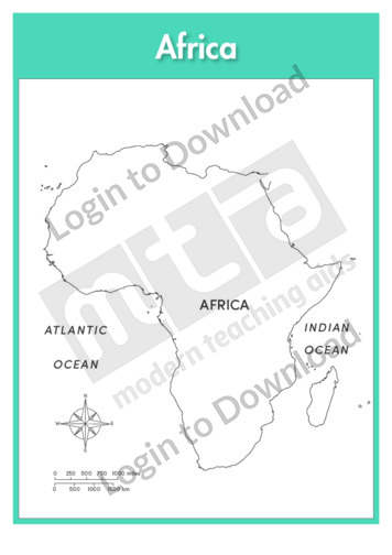 Africa: Continent (labelled outline)