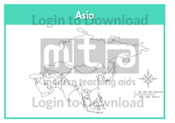 Asia: Continent (outline)
