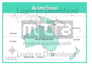 Australasia: Continent (labelled)
