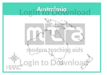 Australasia: Continent (outline)