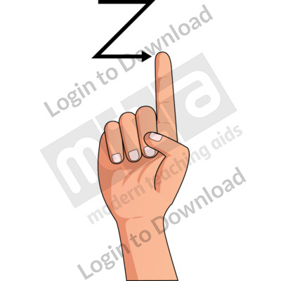 American Sign Language: Z